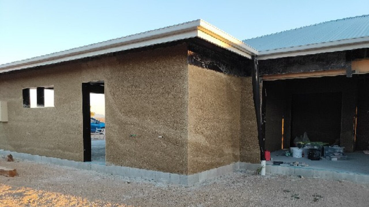 TO THE WALL: The Mount Sturt property will be the first in the Southern Downs to be made entirely from hempcrete, a derivative of the industrial hemp plant. Picture: contributed
