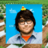 Photo: A composite image of hemp documentary creator Josh Harney, a smiling man with brown hair, a light beard and big dark glasses, with a rubber duck on his head. In the background, a photo of hemp growing outdoors in rows in Colorado.
