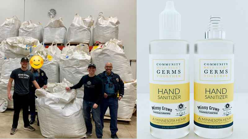Local businesses make hand sanitizer for first responders for free - KSTP