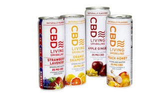 New CBD Living Sparkling Water Drinks Launch Made from Organic Hemp
