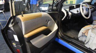What's different about this BMW at the 2020 Farm Show hemp exhibit? It's 14% hemp. - LancasterOnline